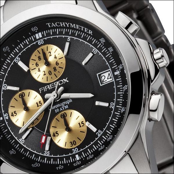 firefox chronograph uvp 179 herrenuhr gold schwarz seiko. Black Bedroom Furniture Sets. Home Design Ideas